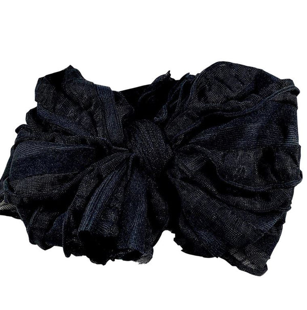 Ruffle Headband - Black