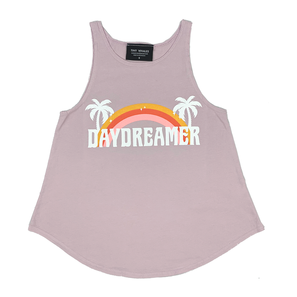 Tiny Whales Daydreamer Flowy Tank Dusty Pink
