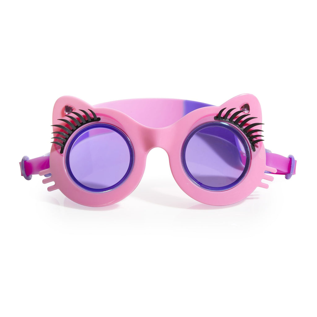 Pawdry Hepburn Kity with Faux Lashes Goggles