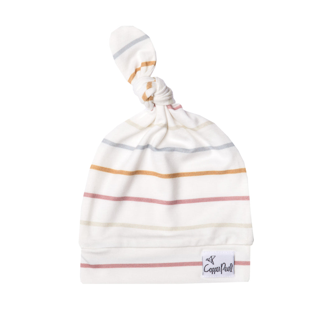 piper newborn top knot hat