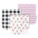 premium burp cloths - rosie