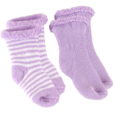2-Pack Terry Newborn Socks | Lilac