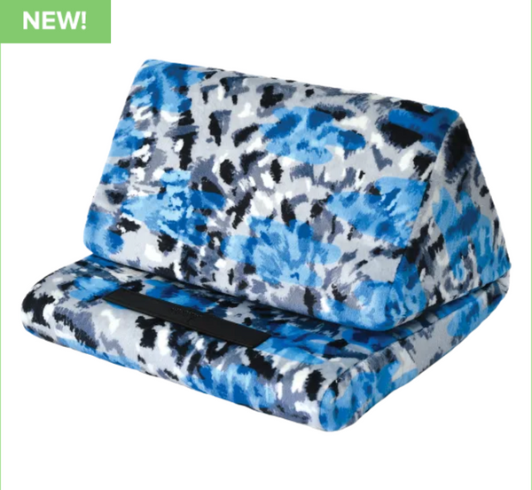 Blue Tie Dye Tablet Pillow