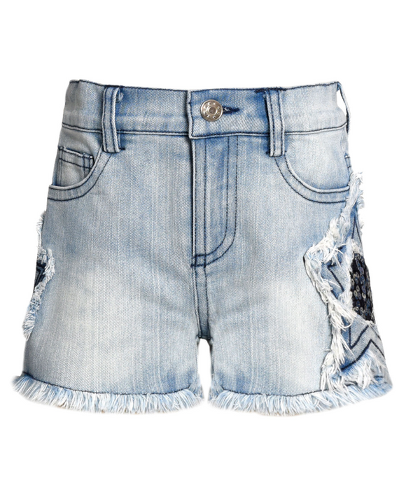 Star Stone Wash Denim Shorts