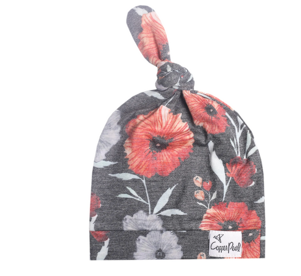 poppy top knot hat