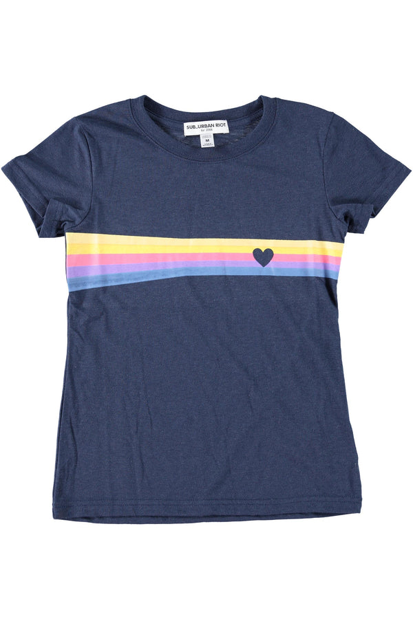 HEART STRIPE YOUTH SIZE LOOSE TEE