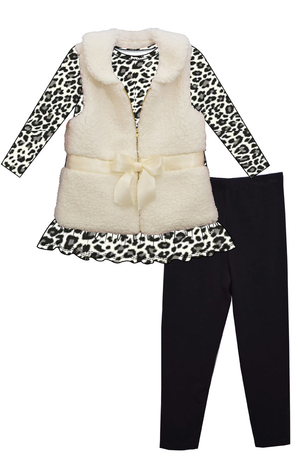 Jessa Leopard Sherpa 3PC Set