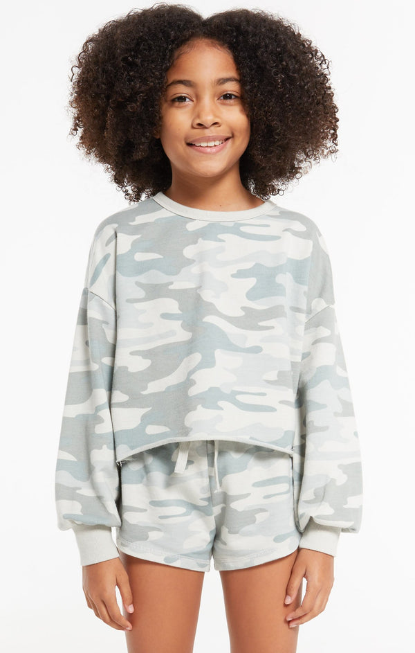 GIRLS MAYORI DUSTY CAMO PULLOVER