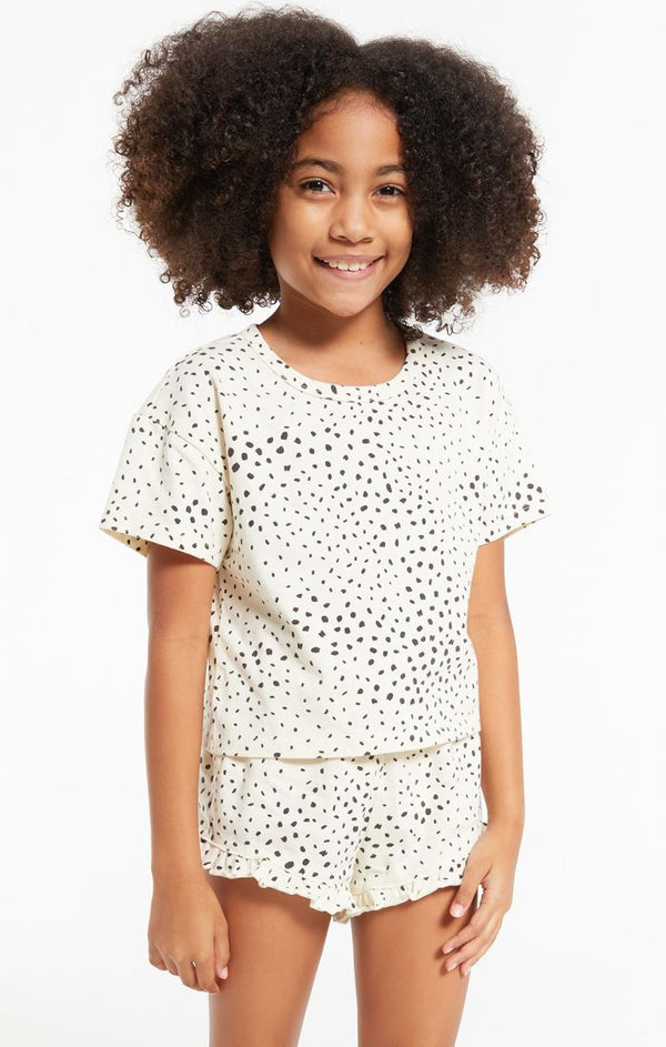 GIRLS NATTIE DOT TEE