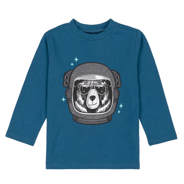 BEAR ASTRONAUT LONG SLEEVE T-SHIRT, BABY BOY & BOY