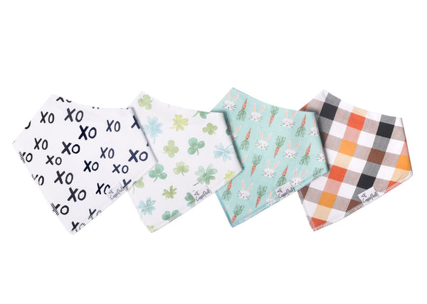 Holiday Baby Bandana Bib Set (4-pack)