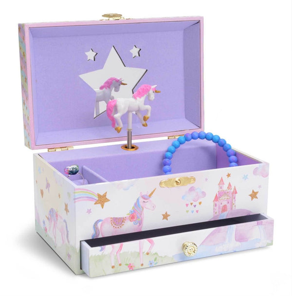 Rainbow Unicorn Musical Jewelry Box w/ Drawer