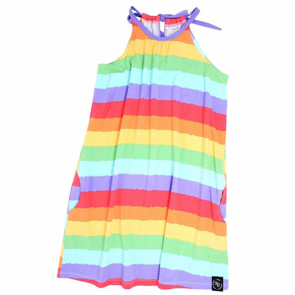 Egyptian Dress - Rainbow Stripe