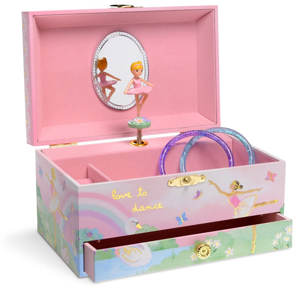 Ballerina Dreams Musical Jewelry Box w/ Drawer