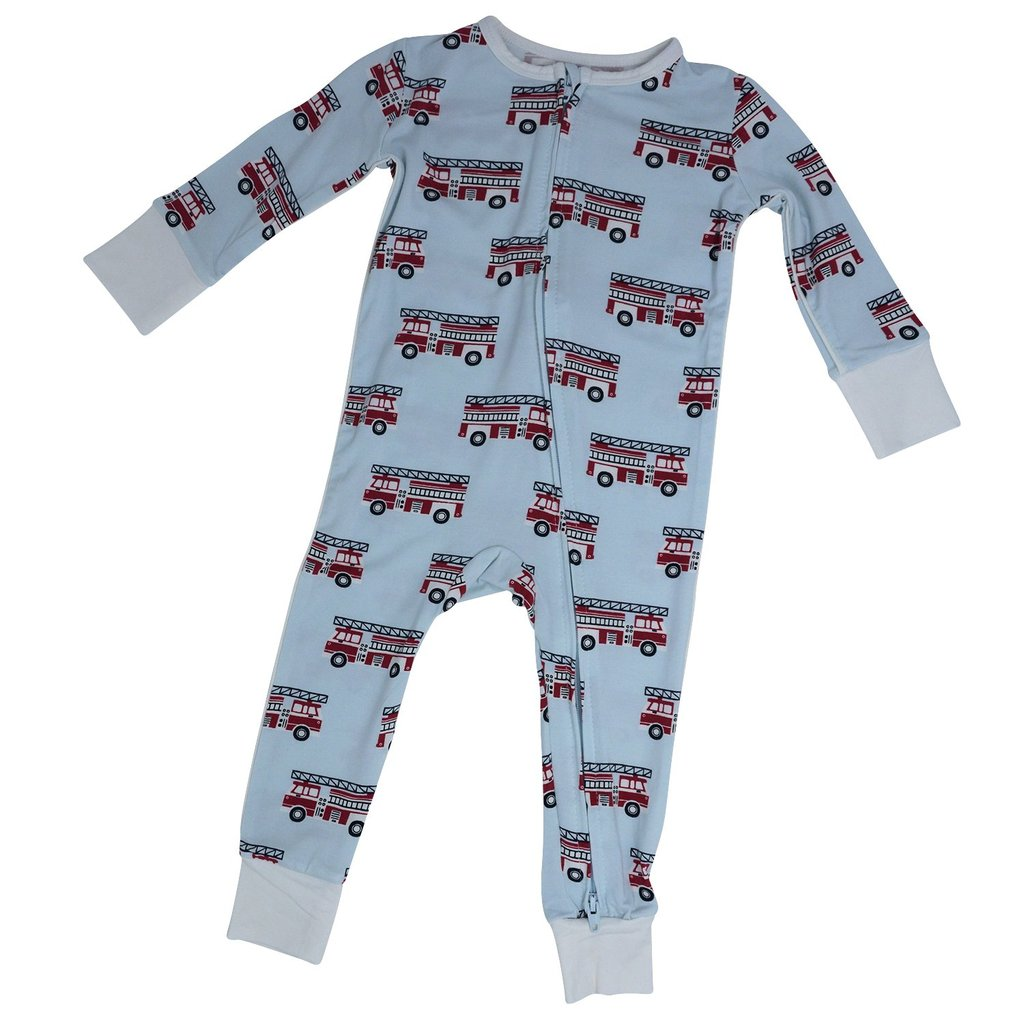 Piped Zipper Romper - Firetruck  Regular priceSale price