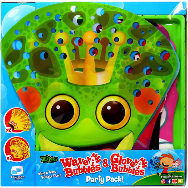 Hog Wild Toys Toy Bubble Glove-A-Bubbles Party Pack