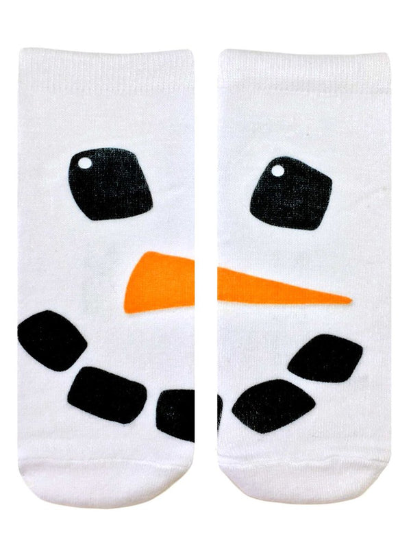 SNOWMAN FACE ANKLE SOCKS