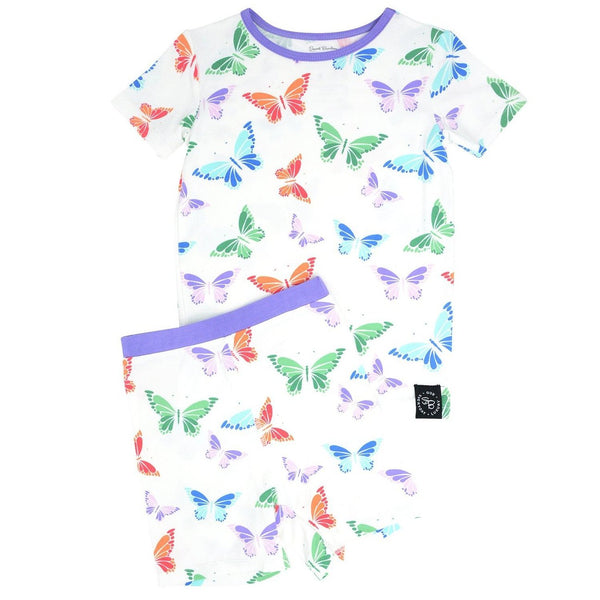 Summer PJ 2pc Set - Rainbow Butterflies