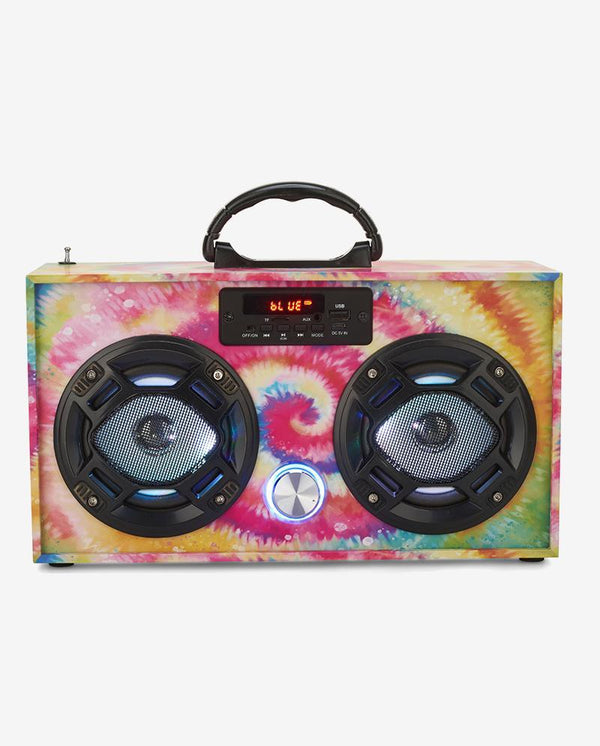 Tye Dye Mini Boombox -LOCAL PICK UP ONLY