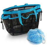 Mesh Shower Caddy Tote with 9 Storage Compartments