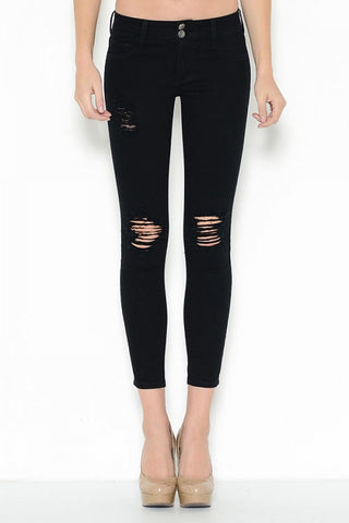 Cello Black Skinny Ankle Jeans