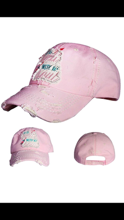 It Is Well Hat- Pink