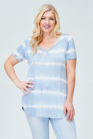 Curves Sky Blus Tye Dye top