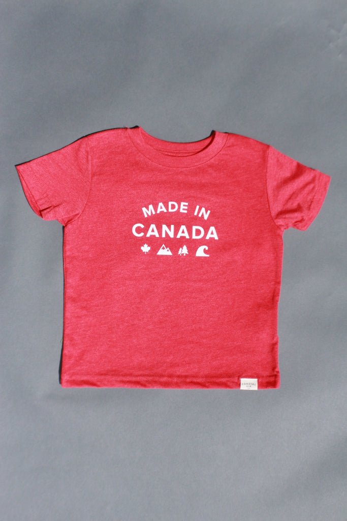 COASTAL KID 'Made in Canada' Tee (RED