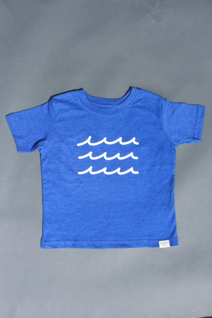 COASTAL KID 'Waves' Tee (BLUE)