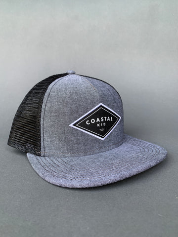 COASTAL KID ADULT Black Chambray Trucker