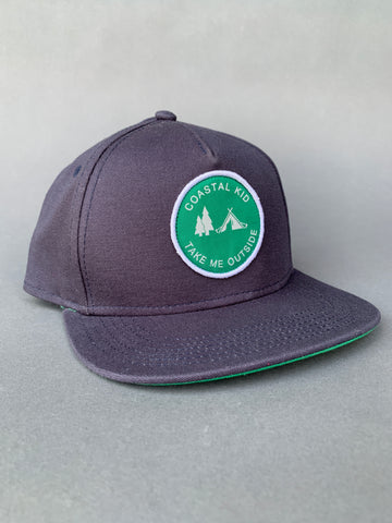 COASTAL KID Navy/Green Snapback