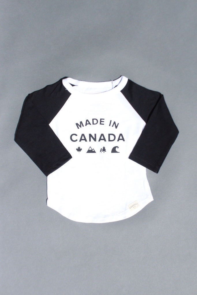 COASTAL KID 'Made in Canada' Ball Tee (WHT/BLK)