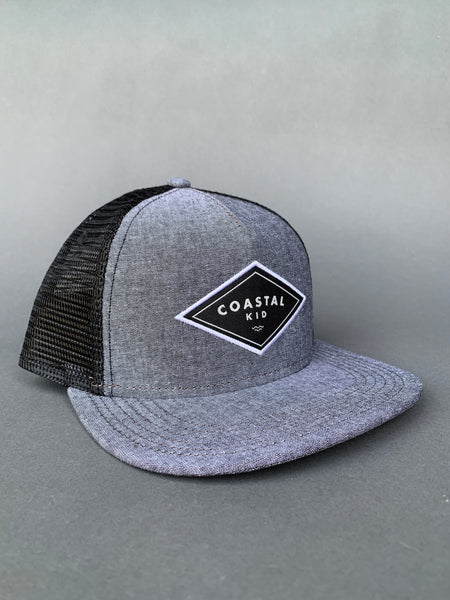 COASTAL KID Black Chambray Snapback