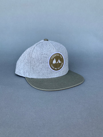 COASTAL KID Grey/Olive SnapBack