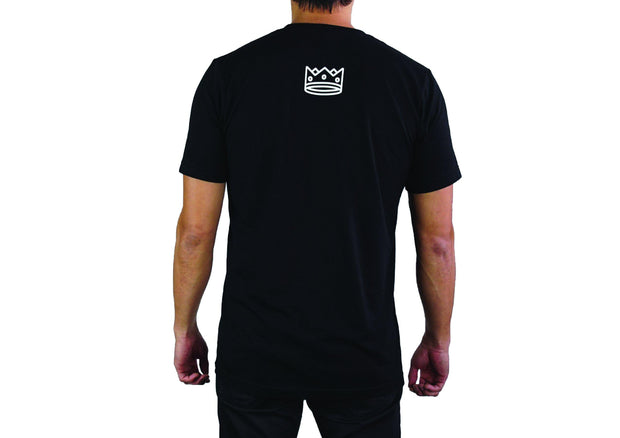 Men's Crew Neck Black/White Bar
