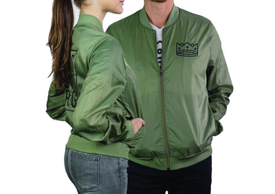Unisex Bomber Olive/Black Crown