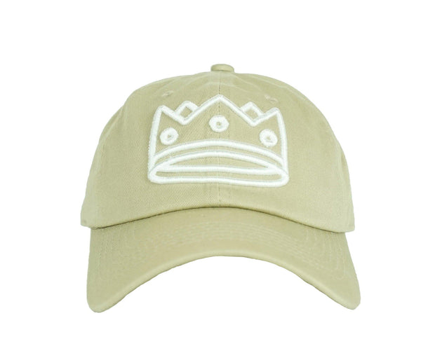 Dad Hat Beige/White Crown