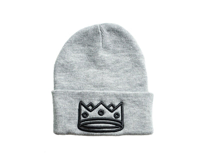 Beanie Grey/Black Crown