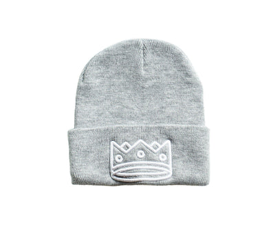 Beanie Grey/White Crown