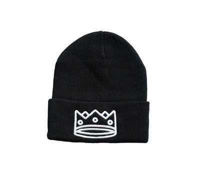 Beanie Black/White Crown