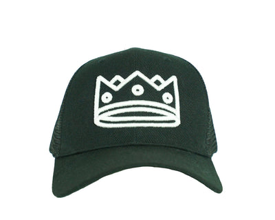 Trucker Black/White Crown