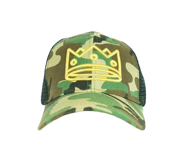 Trucker Camo+Black/Gold Crown