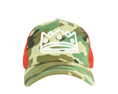 Trucker Camo+Red/White Crown