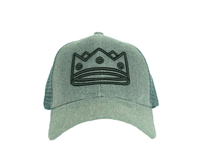 Trucker Heather Grey/Black Crown