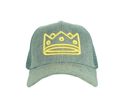 Trucker Heather Grey/Gold Crown