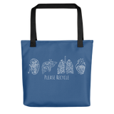 """Please Recycle"" Tote Bag"