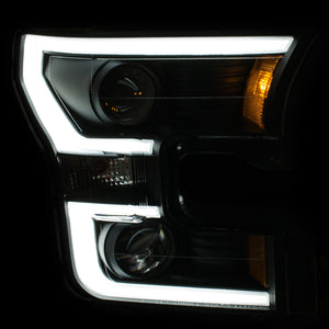 Anzo Projector Style Black Headlight | Ford F150 2015-Up