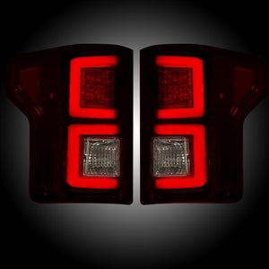 Recon Red Smoked LED Tail Lights | Ford F150 2015-2017