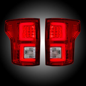 Recon 264268RD Red LED Tail Lights | Ford F150 2015-2017