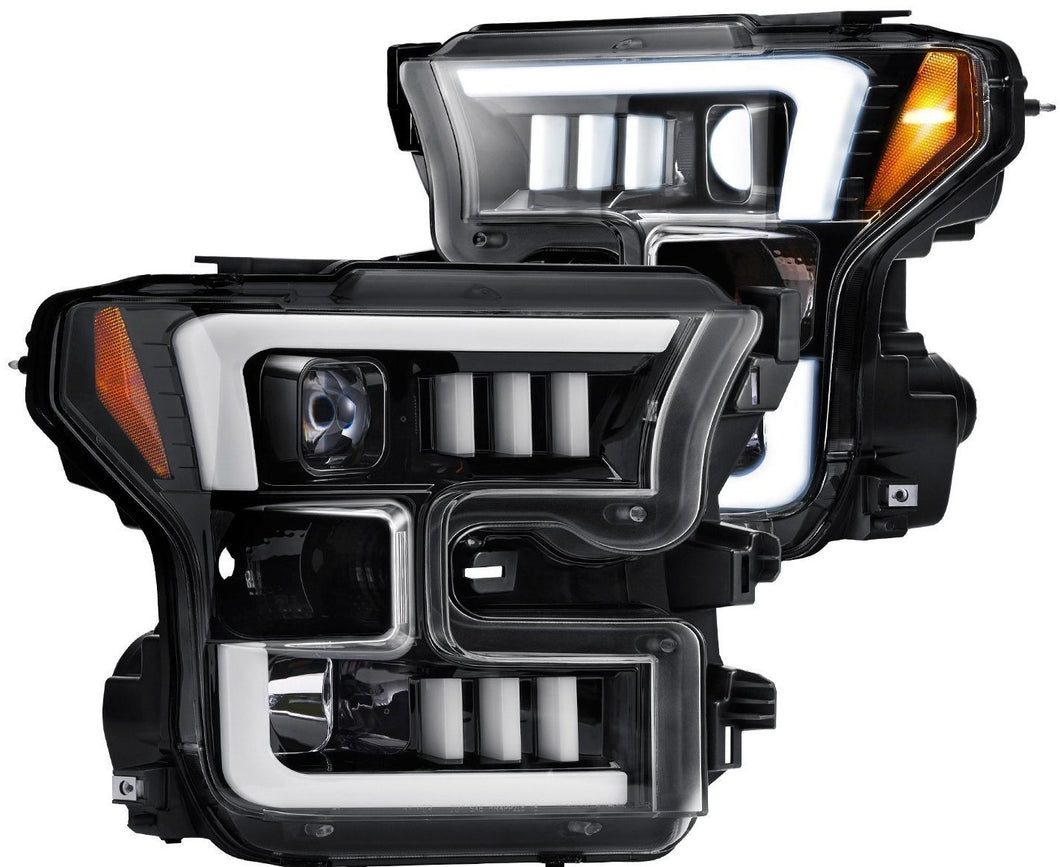 Recon | 264290BKC | Smoked/Black Projector Headlights | Ford F150 2015-2016